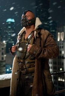 BANE 100% REAL COW HIDE LEATHER TRENCH COAT JACKET   THE DARK KNIGHT