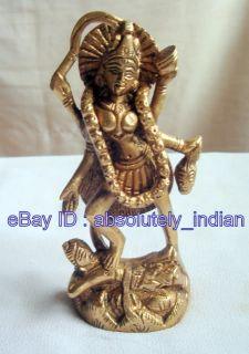 Hindu Goddess Brass Statue Maa Mata Kali Kaali 4HT