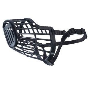 Guardian Gear Plastic Basket Dog Muzzle 4 XXS Black