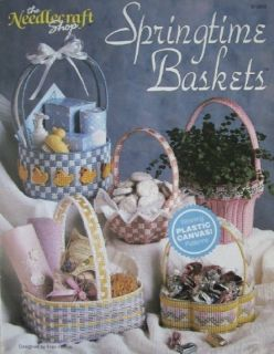 Springtime Baskets Plastic Canvas Pattern Book 5 Beautiful Basket