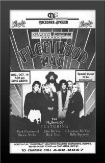 Fleetwood Mac Live 1987 Concert Nicely Framed Poster Print Very
