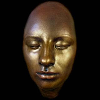 Barbra Streisand Life Mask Rare Oscar Winner Life Cast in Gold Finish
