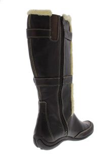 Hush Puppies New Barbaresco Brown Faux Trim Knee High Boots Shoes 11