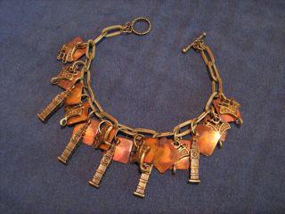 Altered Art Steampunk Charm Bracelet Goth Vampire LARP