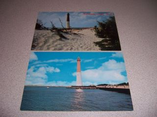 Barnegat Light New Jersey NJ Vintage Lighthouse Postcard Lot