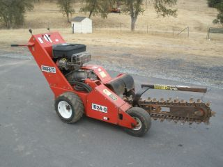 Barreto Trencher 1624 D Walk Behind 16HP 60 Bar Ditch Witch Case