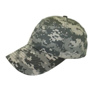 New Camouflage Low Profile Hat Cap Digital Camo Baseball Cap