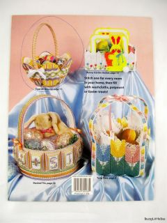 plastic canvas bunny baskets 8 spring baskets for filling with treats