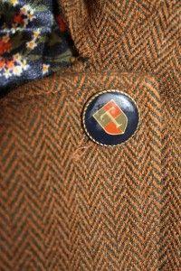 Tucker for Target Trench Coat Green Brown Herringbone