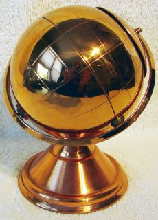 Mid Century Modern GLOBE CIGARETTE HOLDER/BOX Space Age Bachelor Pad