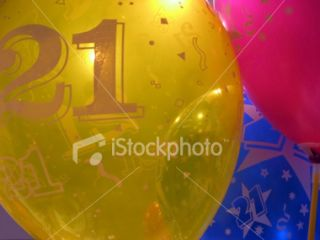 stock photo 4564742 21st birthday balloons
