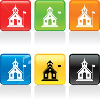 School House Icon Royalty Free Stock Vector Art Illustration