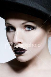 Femmes, Goth, Mannequin, Maquillage, Style gothique Photo libre de