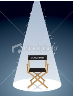 Movie Director Chair Royalty Free Stock Vector Art Illustration