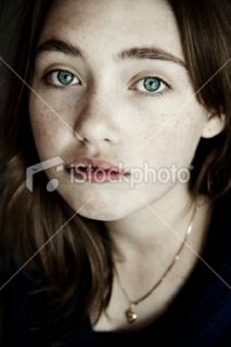 stock photo 12483963 portrait of a sad girl