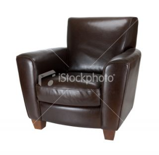Dark Brown Leather Chair Royalty Free Stock Photo