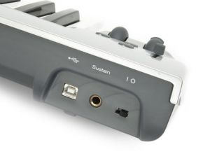 back of keyboard usb port headphone jack power switch