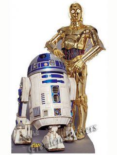 STAR WARS CLASSIC DROIDS R2 D2 & C3PO LIFESIZE CARDBOARD CUTOUT