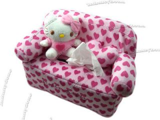 NEW Sanrio Hello Kitty Sofa Car Kitchen Bedroom Plush Doll Tissue Box