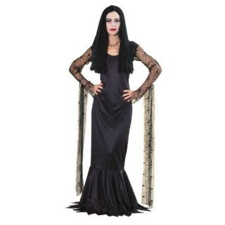 Ru15526sm Morticia Addams Family Small Includes Black Dress Adult Size