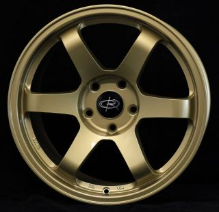 17X9 ROTA GRID 5X100 +42 GOLD WHEEL FITS LEGACY STI TC WRX MATRIX