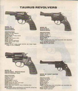 1992 taurus ad model 73 83 85 86 revolver time