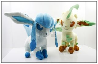Newly listed New Pokemon 9 Leafeon Glaceon Plush Toy Doll Cute