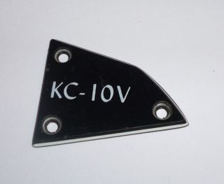 NEW OLD STOCK TRUSS ROD PLATE COVER FROM WASHBURN GUITAR MODEL KC 10V