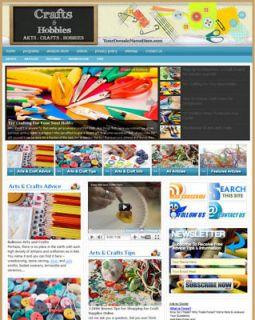 Established ARTS, CRAFTS & HOBBIES Website For Sale (Websites By