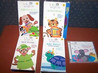 BABY EINSTEIN VHS VIDEOS VHS + BABY NOAH MUSIC CD (NEPTUNE NUMBERS
