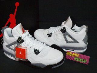 2012 Nike Air Jordan 4 IV Retro White Black Cement US12 Basketball
