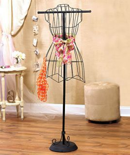 Boutique Mannequin Black Wire Vintage Dress Form Home Decor *New*