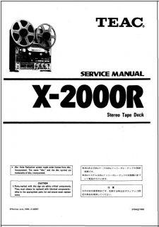 eac x2000r in Reel o Reel ape Recorders