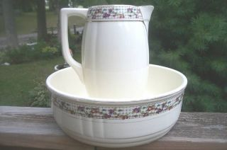 antique boch fes la louviere belgium pitcher bowl time left