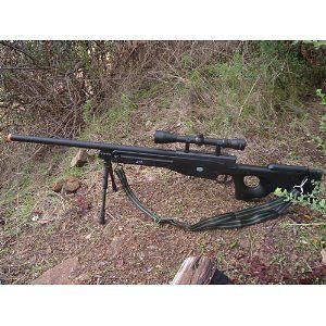 UTG Shoot Competition Shadow Ops Sniper Rifle Airsoft Gun Game Play