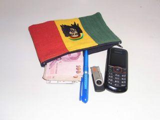 Rasta Rastafarian Bob Marley Jamaica Large Coin Pouch Wallet