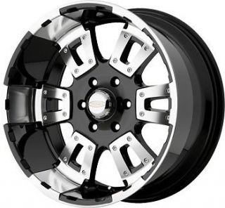 20 inch Diamo 17 Karat black wheels rims 8x6.5 / Dodge Ram 2500 HUMMER