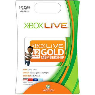 Newly listed New xBox Live 12 Month Gold Membership Subscription Card