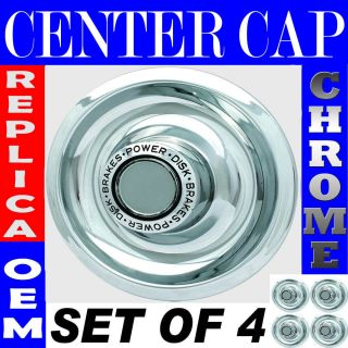 pc CHROME CHEVY GM Rally Wheel Center Hub Caps Disc Brake Rim Covers