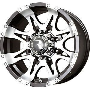 New 16X8.5 8x165.1 LEVEL 8 Black Wheels/Rims 8 Lug Chevy GMC Dodge