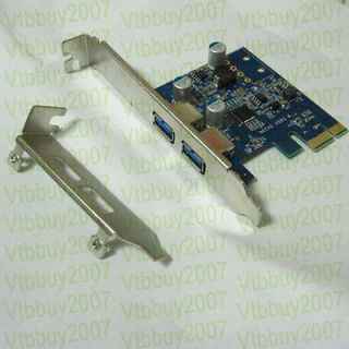 low profile + Normal bracket PCI e to 2 port USB 3.0 A female