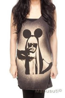 LADY GAGA MICKEY Pop Rock Sexy Artist WOMEN T SHIRT TANK TOP Dress