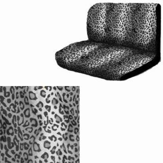 2pc Set Leopard Cheetah Gray Grey Animal Print 1 Back Bench Row Car