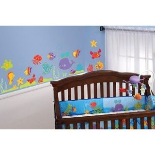 FISHER PRICE OCEAN WONDERS 25 Wall Decals Nursery Baby Fish Room Decor
