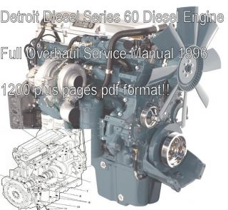 Detroit Diesel Series 60 Service repair Shop Manual overhaul