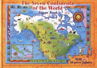 The Seven Continents of the World Jigsaw Book by Jennifer Mappin 2008