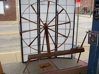 Newly listed Antique Flax Spinning Wheel Great Wheel 1800s