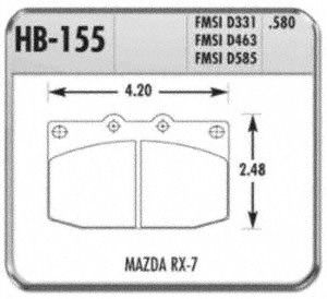 Hawk Performance HB155F.580 Disc Brake Pad