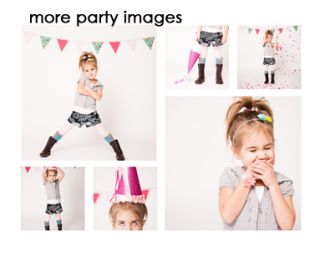 Cute Little Girl Strikes a Pose while on White Background  Stock