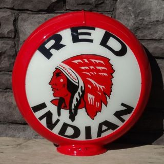 red indian gasoline 13 5 gas pump globe from canada